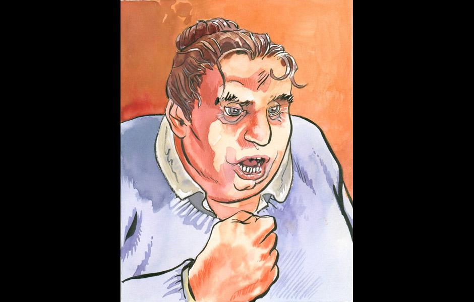 La Guinguette - Illustration Thierry Gaufillet - Grosse femme en colère