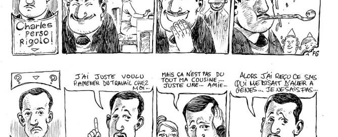 Auxerre - 24 heures de la BD : Charles en strip vue par FredGri