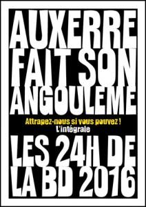 Couverture intégrale 24h de la BD d'Auxerre