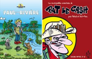 Couvertures albums BD Paul et la rivière et Pat le Cash